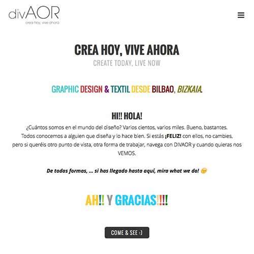 Diseño página web Divaor