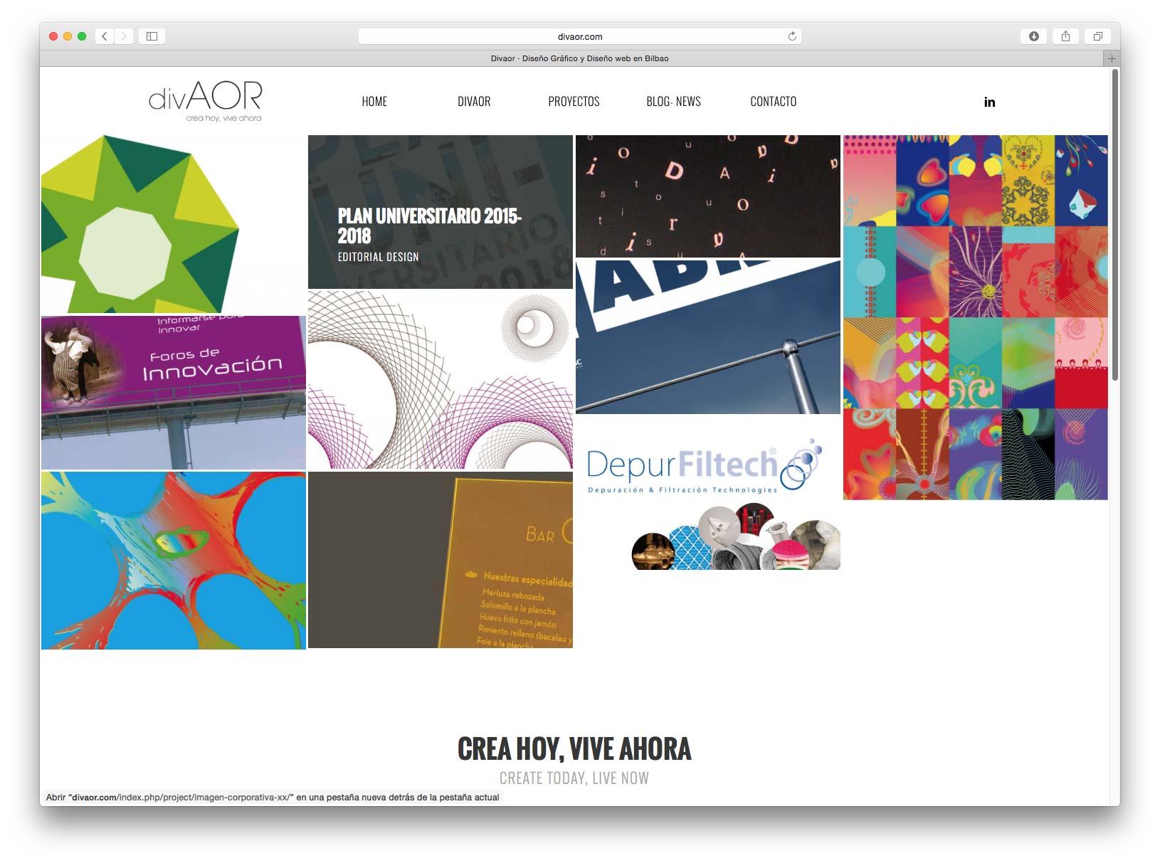 Diseño web Divaor Studio